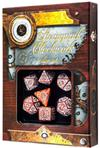 Set Dadi Steampunk Clockwork - Caramello, Bianco