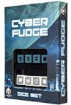 Set Dadi Fudge Cyber - Nero, Blu
