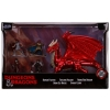 D&D Miniature Die Cast: Human, Tiefling, Young Red Dragon, Drow, Dwarf
