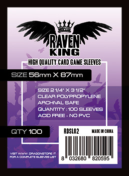 Raven King Sleeves - Bustine Protettive 56x87mm (100)