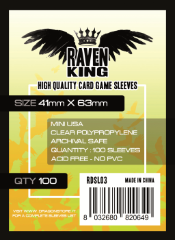 Raven King Sleeves - Bustine Protettive 41x63mm (100) - Mini USA