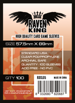 Raven King Sleeves - Bustine Protettive 57,5x89mm (100) - Standard USA