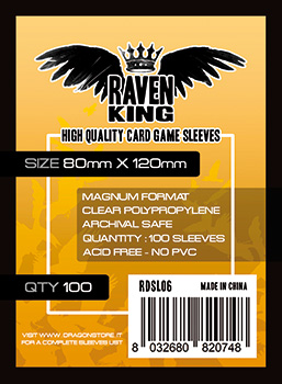 Raven King Sleeves - Bustine Protettive 80x120mm (100)