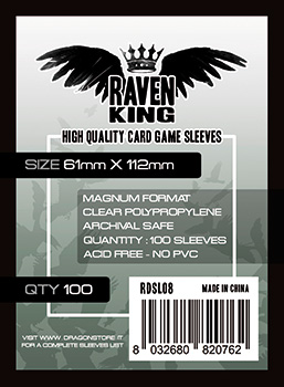 Raven King Sleeves - Bustine Protettive 61x112mm (100)