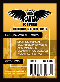Raven King Sleeves - Bustine Protettive 50x75 mm (100)
