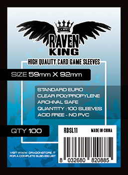 Raven King Sleeves - Bustine Protettive 59x92 mm (100)