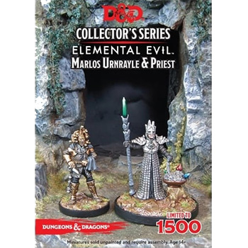 D&D Miniature Collector's Series - Elemental Evil: Marlos Unrayle & Priest