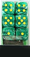 Set 12D6 Vortex - Verde Malachite/Giallo